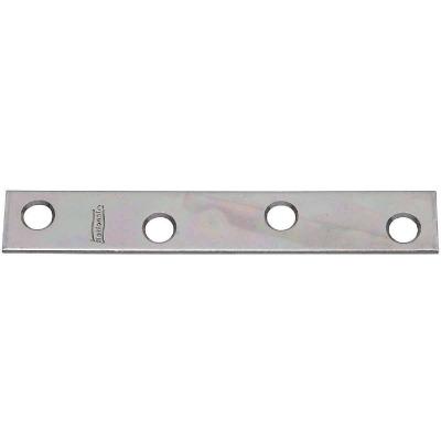 National Catalog 118 4 In. x 5/8 In. Zinc Steel Mending Brace (4-Count)