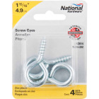 National #6 Zinc Large Screw Eye (4 Ct.) Image 2