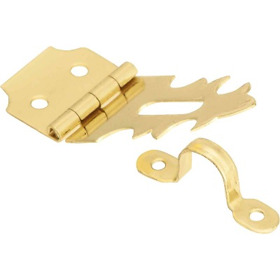 National 5/8 In. x 1-7/8 In. Solid Brass 2-Hole Decorative Hasp