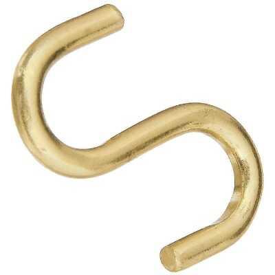 National 1 In. Brass Heavy Open S Hook (3 Ct.)