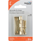 National 2 In. Brass Loose-Pin Narrow Hinge (2-Pack) Image 2