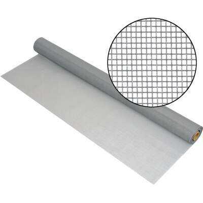 Phifer 32 In. x 100 Ft. Gray Fiberglass Mesh Screen Cloth