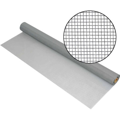 Phifer 48 In. x 100 Ft. Gray Fiberglass Mesh Screen Cloth