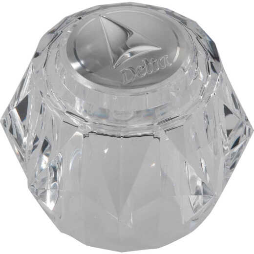 Delta Acrylic Single Knob Clear Faucet Handle