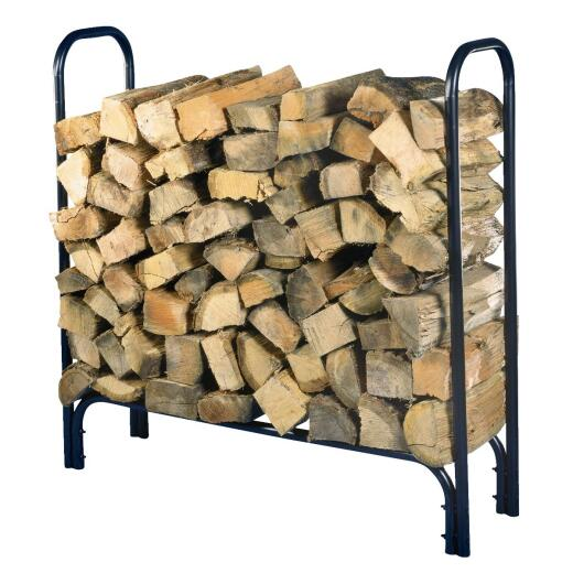 Home Impressions 4 Ft. Black Tubular Log Rack