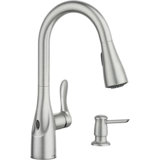 Moen Arlo Single Handle Lever Pulldown Kitchen Faucet with Touchless Activation Sensor, Stainless