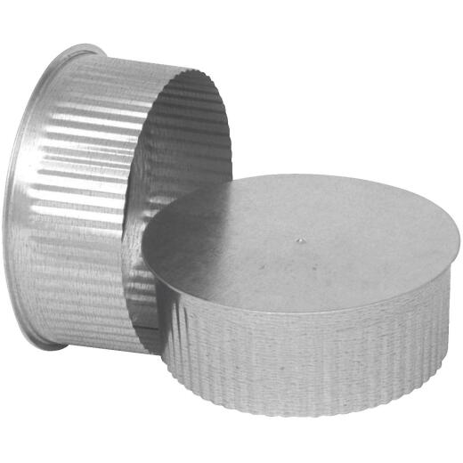 Imperial 30 Ga. 7 In. Galvanized Tee Cap/Plug