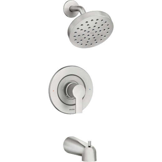 Moen Rinza Spot Resistant Nickel Single-Handle Posi-Temp Tub & Shower Faucet