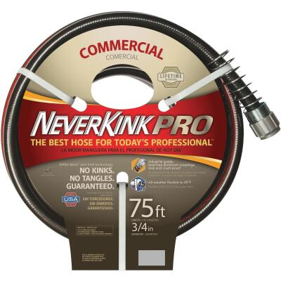 Neverkink Pro 3/4 In. Dia. x 75 Ft. L. Commercial Garden Hose