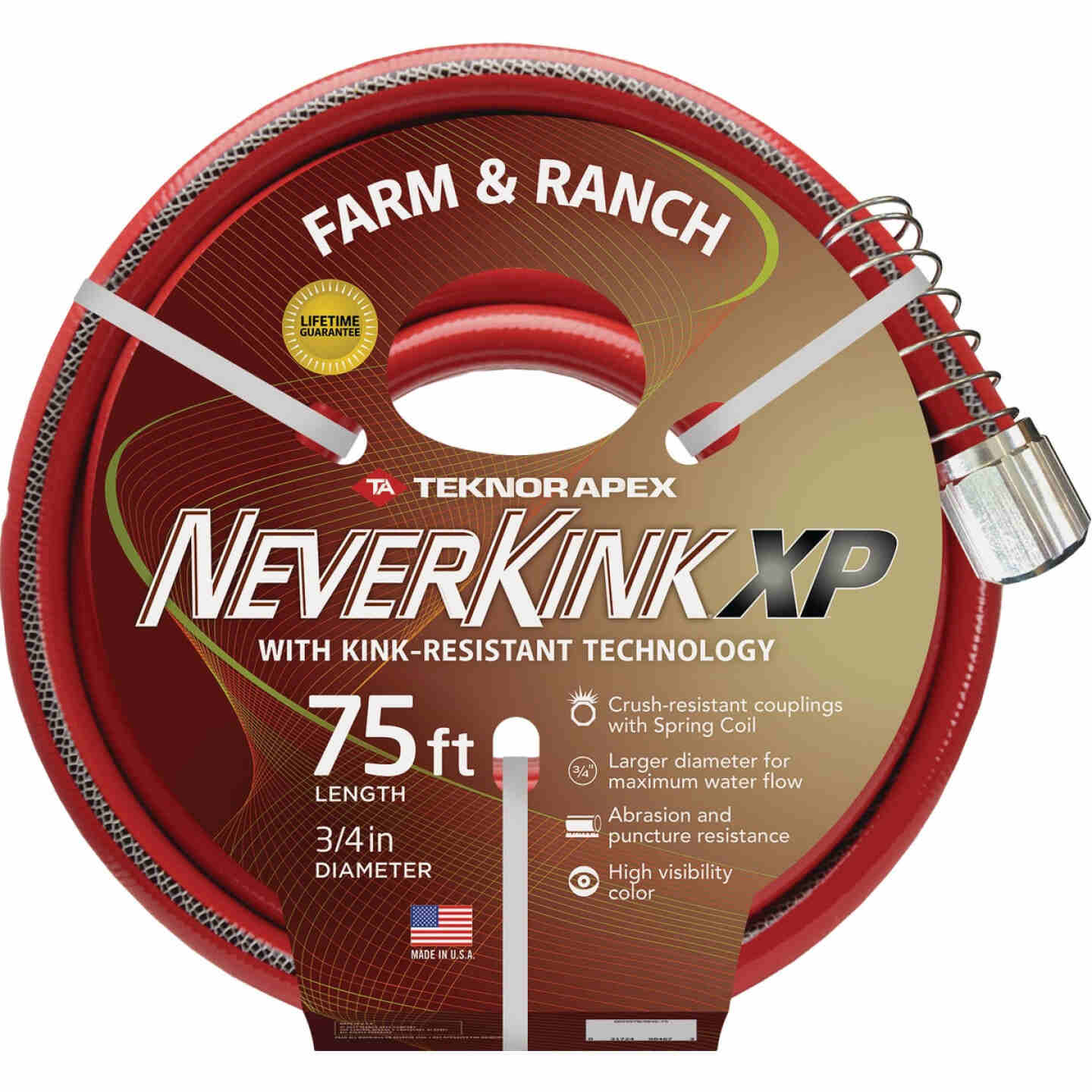NeverKink XP 3/4 In. x 75 Ft. Farm & Ranch Hose Image 1