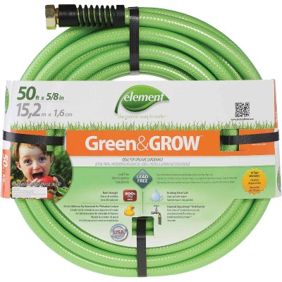 Element Green & Grow 5/8 In. Dia. x 50 Ft. L. Drinking Water Safe Garden Hose