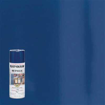 Rust-Oleum Stops Rust 11 Oz. Metallic Satin Spray Paint, Cobalt Blue