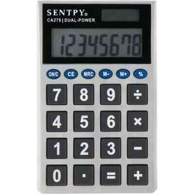Sentry Jumbo Key Auto-Off 8-Digit Pocket Calculator